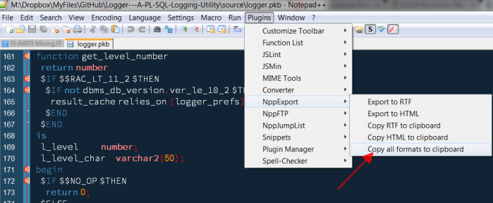 Notepad++ Syntax Highlighting Export